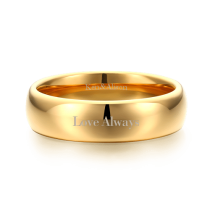 Engraved Men's Couple Rings