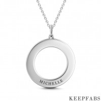 Engravable Disc Necklace Silver Z901553823927