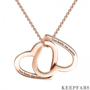 Engravable Love Necklace Rose Gold