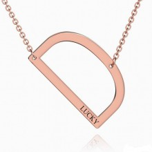 Engraved Alphabet D Initial Necklace