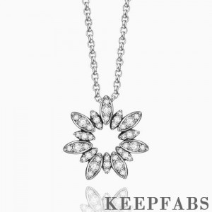 Ice Flower Necklace Silver
