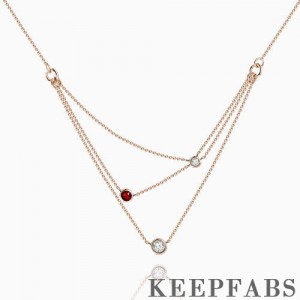 Dazzling Droplets Necklace Rose Gold Plated Silver