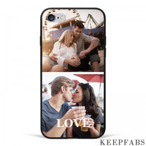 iPhone 6/6s Custom Photo Protective Phone Case - 2 Pictures Soft Shell Matte