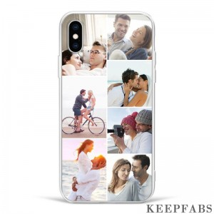 iPhoneX Custom Photo Protective Phone Case - 7 Pictures Soft Shell Matte