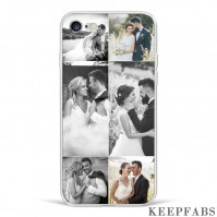 iPhone 7/8 Custom Photo Protective Phone Case - 6 Pictures Soft Shell Matte