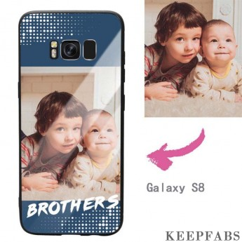 """Galaxy S8 Custom """"Brothers"""" Photo Protective Phone Case - Glass Surface"""