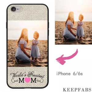 "iPhone 6/6s Custom ""Mom"" Photo Protective Phone Case Soft Shell Matte"