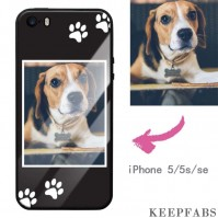 iPhone 5/5S/Se Custom Dog Photo Protective Phone Case - Glass Surface