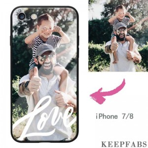 iPhone 7/8 Custom Love Photo Protective Phone Case - Glass Surface