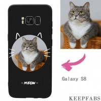 Galaxy S8 Custom Cat Photo Protective Phone Case Soft Shell Matte
