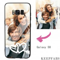 Galaxy S8 Custom Love Photo Protective Phone Case - Glass Surface