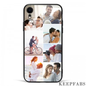 iPhone Xr Custom Photo Protective Phone Case - 7 Pictures Soft Shell Matte