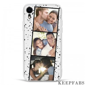 iPhone Xr Custom Photo Protective Phone Case - 3 Pictures Soft Shell Matte
