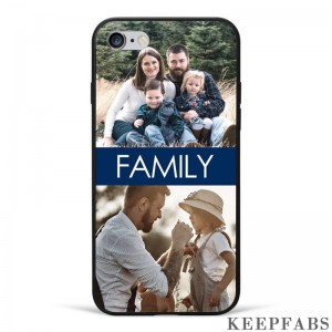 iPhone 6/6s Custom Photo Protective Phone Case - 2 Pictures with Name Soft Shell Matte