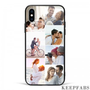 iPhoneX Custom Photo Collage Protective Phone Case - 7 Pictures Soft Shell Matte