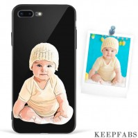 iPhone 7p/8p Custom Photo Protective Anime Phone Case - Glass Surface