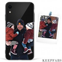 iPhone Xr Custom Photo Protective Anime Phone Case - Glass Surface