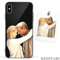 iPhone Xs Max Custom Photo Protective Anime Phone Case - Glass Surface