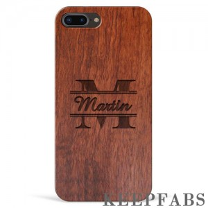iPhone 7p/8p Engraved Protective Phone Case - Rosewood