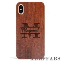 iPhone Xs Max Engraved Protective Phone Case - Rosewood