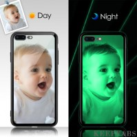 iPhone 7p/8p Custom Noctilucent Photo Protective Phone Case Glass Surface
