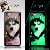 iPhone 7/8 Custom Noctilucent Photo Protective Phone Case Glass Surface