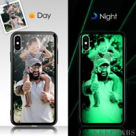 iPhone X/Xs Custom Noctilucent Photo Protective Phone Case Glass Surface