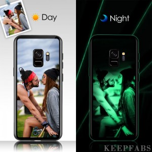 Samsung Galaxy S9 Plus Custom Noctilucent Photo Protective Phone Case Glass Surface