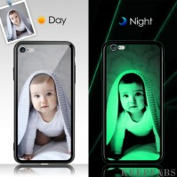 iPhone 6p/6sp Custom Noctilucent Photo Protective Phone Case Glass Surface