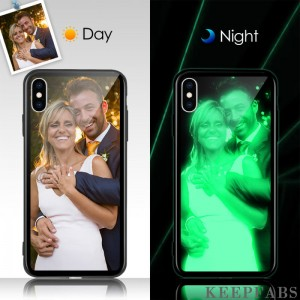 iPhone Xs Max Custom Noctilucent Photo Protective Phone Case Soft Shell