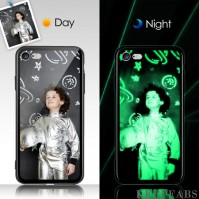 iPhone 6/6s Custom Noctilucent Photo Protective Phone Case Glass Surface