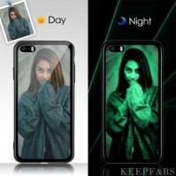 iPhone 5/Se Custom Noctilucent Photo Protective Phone Case Glass Surface