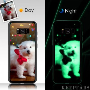Samsung Galaxy S8 Custom Noctilucent Photo Protective Phone Case Glass Surface