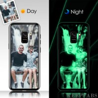 Samsung Galaxy S9 Custom Noctilucent Photo Protective Phone Case Glass Surface