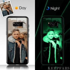 Samsung Galaxy S8 Plus Custom Noctilucent Photo Protective Phone Case Glass Surface