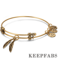 Feather Charm Bangle
