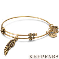 Angel Wings Charm Bangle