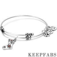 Christmas Stocking Charm Bangle