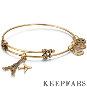 Romantic Paris Charm Bangle