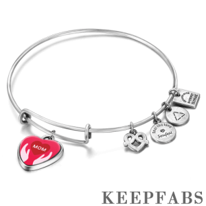 Protect My Mother Complete Charm Bangle Special Alloy
