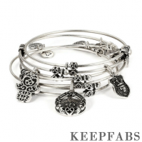 Token of Love Charm Bangle Set Of 3