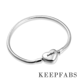 Snake Chain Bracelet with Keepfab Heart Clasp