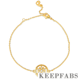 Romantic Star Bracelet 14K Gold Plated - Length Adjustable
