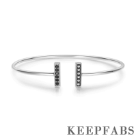 Parallel Bangle Silver