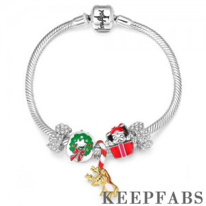 Christmas Carnival Complete Charm Bracelet Silver