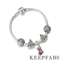 Merry Christmas Complete Charm Bracelet Silver