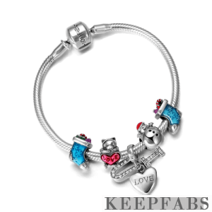 Christmas Gifts Complete Charm Bracelet Silver