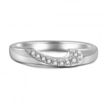 Sweet Heart Couples Ring Silver