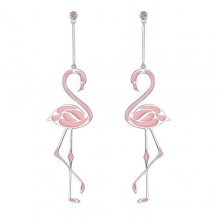 Pink Flamingo Drop Earrings