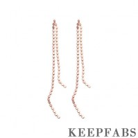 Worn In Two Ways Sparkle Diamond Long Drop Earrings